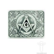 Thistle Masonic Belt Buckle - (CB) KB11