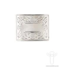 Thistle Polished Belt Buckle - (CB) KB21