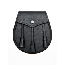 Black Leather Day Wear Sporran - 8GS