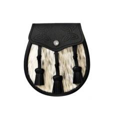 Grey Bovine Semi Dress Sporran - AZD-S