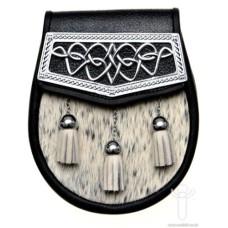 Grey Bovine Semi Dress Sporran - DP-JS