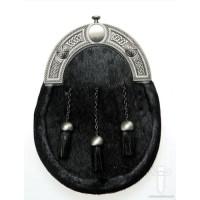 Black Bovine Dress Sporran