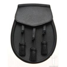 Black Leather Day Wear Sporran - GTSF