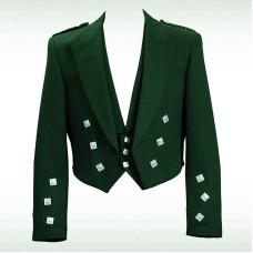 Bottle Green Prince Charlie Jacket & 3 Button Vest