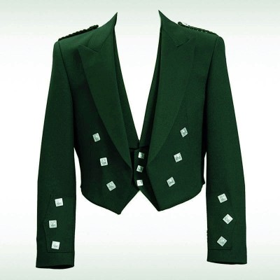 Bottle Green Prince Charlie Jacket & 3 Button Vest