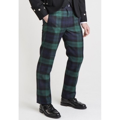 Military Style Tartan Trews (with Front Pockets)