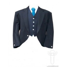 Black Culloden Jacket & 5 Button Vest