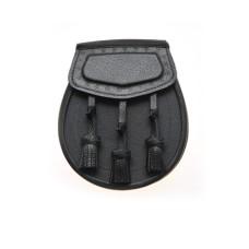 Black Leather Day Wear Sporran - BF