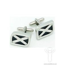 Saltire Cufflinks, Polished