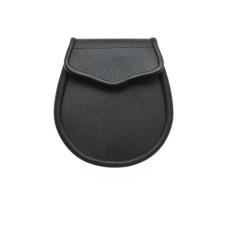 Black Leather Day Wear Sporran - HB