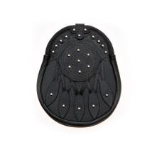 Black Leather Day Wear Sporran - HS