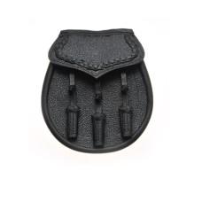Black Leather Day Wear Sporran - JMP