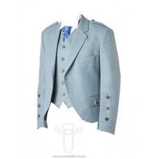 Lovat Blue Tweed Braemar Jacket & 5 Button Vest