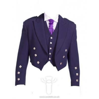 Navy Blue Prince Charlie Jacket & 5 Button Vest