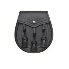 Black Leather Day Wear Sporran - SM