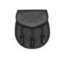 Black Leather Day Wear Sporran - SP