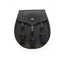 Black Leather Day Wear Sporran - STM